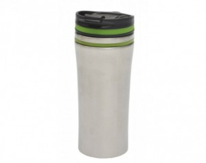 Double-walled travel mug...