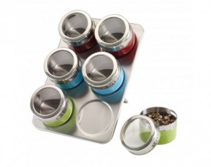 Stainless steel spice rack...