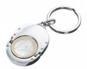 Key ring 1 EURO HOLDER