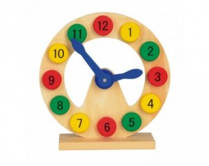 Learning and playing clock...