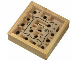 Wooden labyrinth game LOST