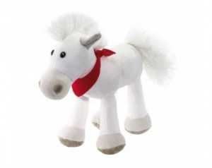 Plush horse JONNY with red...