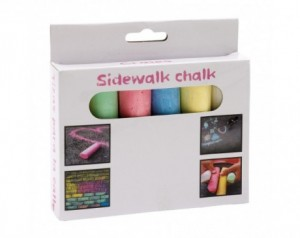 6 pieces of coloured chalk...