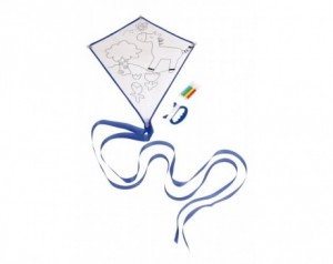 Kite to colour in ARTISTIC